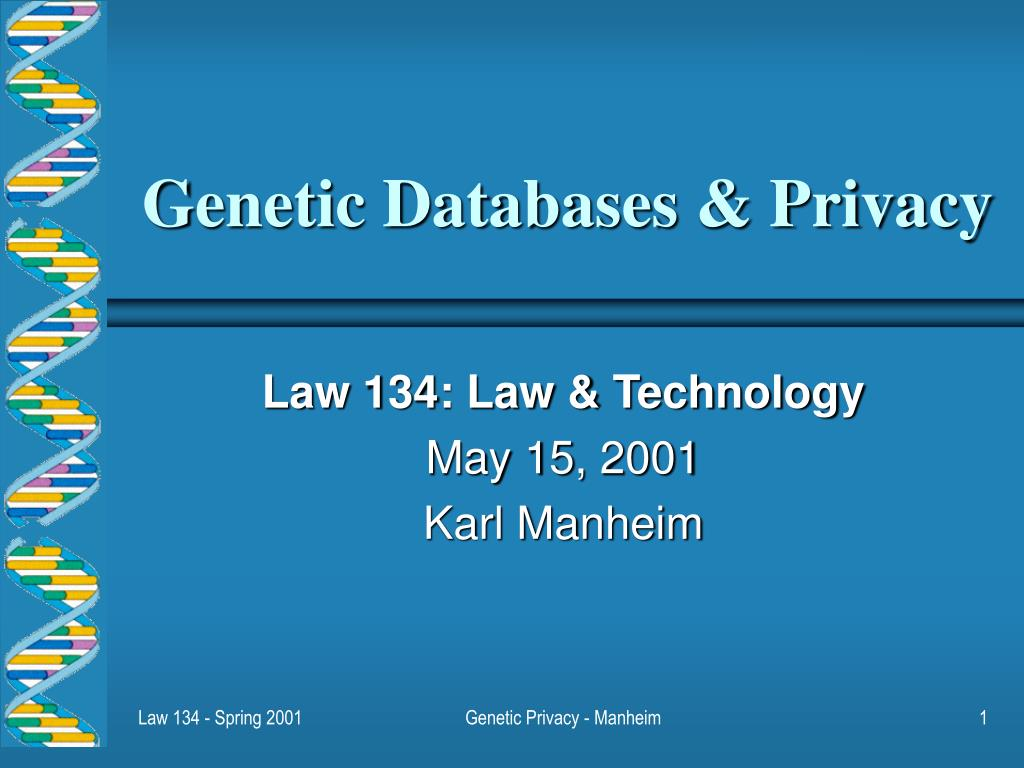 genetic databases privacy l.
