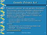 genetic privacy act