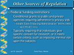 other sources of regulation