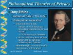 philosophical theories of privacy13