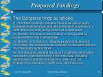 proposed findings