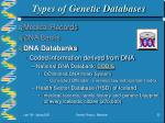 types of genetic databases22