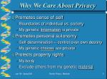 why we care about privacy