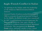 anglo french conflict in sudan