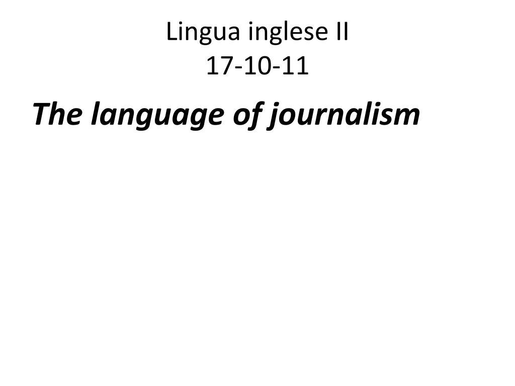 lingua inglese ii 17 10 11 l.