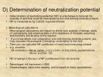 d determination of neutralization potential