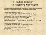 sulfide oxidation 1 1 reactions with oxygen