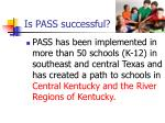 is pass successful