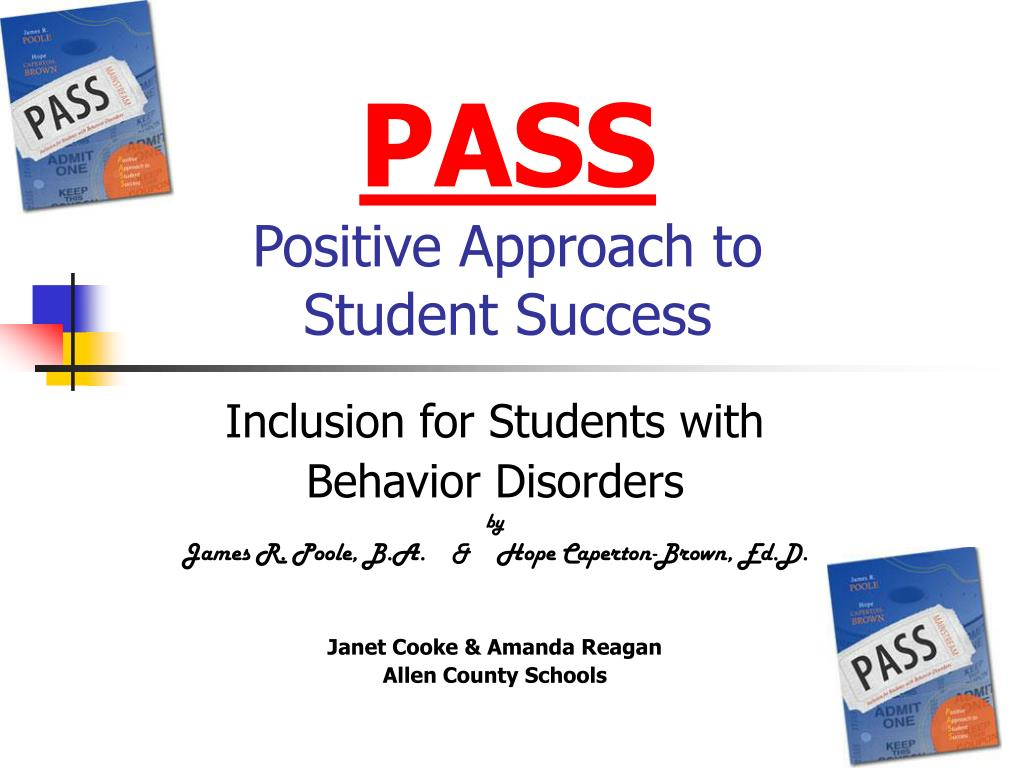 pass positive approach to student success l.