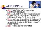 what is pass9