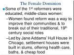 the female dominion