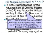 the niagara movement naacp