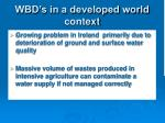 wbd s in a developed world context