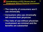 considerations of otc chronic use of omeprazole without physician involvement78