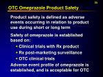 otc omeprazole product safety