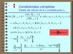condicionales completas detalle del c lculo de la c completa para a i