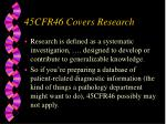 45cfr46 covers research