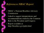 references nbac report