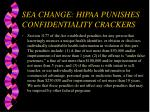 sea change hipaa punishes confidentiality crackers