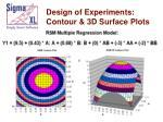 design of experiments contour 3d surface plots