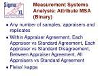 measurement systems analysis attribute msa binary
