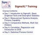 sigmaxl training105