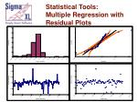 statistical tools multiple regression with residual plots