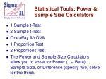 statistical tools power sample size calculators