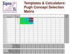 templates calculators pugh concept selection matrix