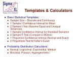 templates calculators12