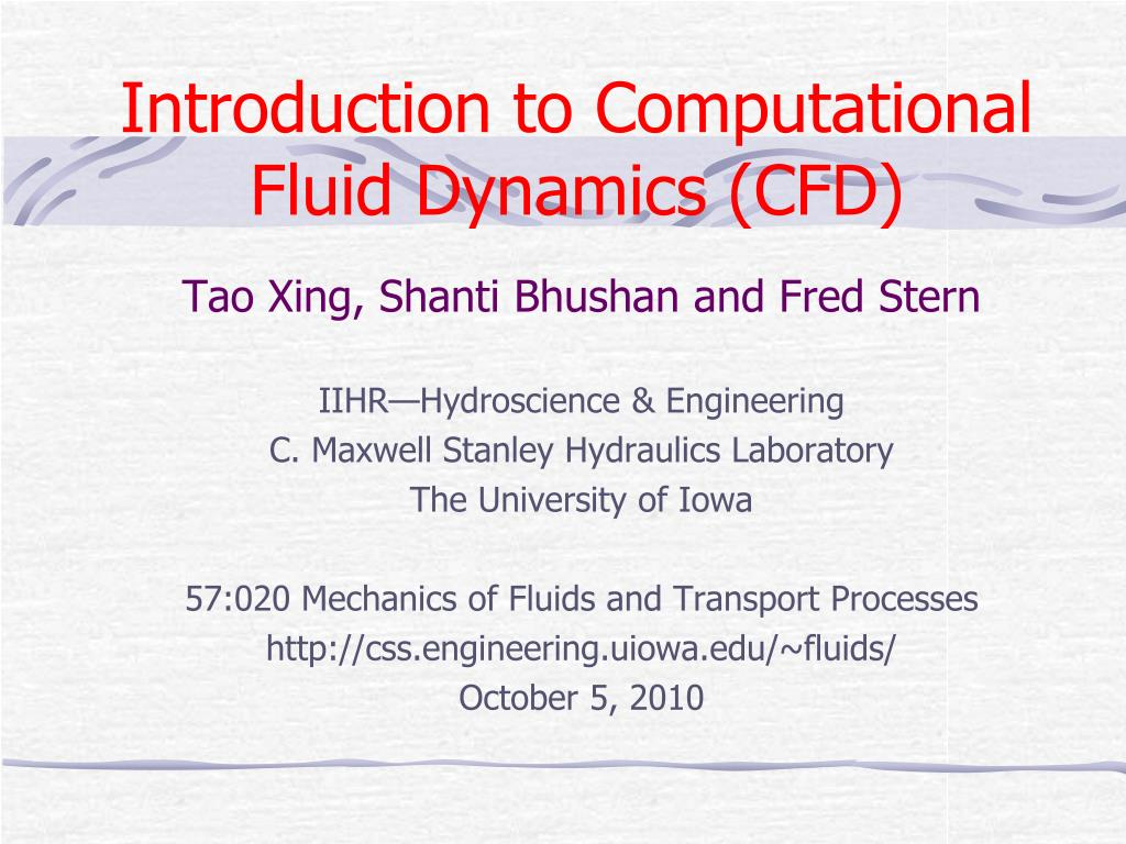 introduction to computational fluid dynamics cfd l.