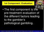 1st component evaluation