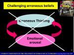 challenging erroneous beliefs