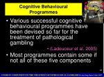 cognitive behavioural programmes