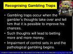 recognising gambling traps