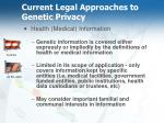 current legal approaches to genetic privacy21