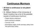 continuous murmurs