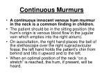 continuous murmurs238