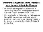 differentiating mitral valve prolapse from innocent systolic murmur144
