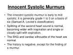 innocent systolic murmurs104