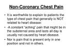 non coronary chest pain