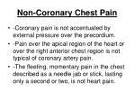 non coronary chest pain92