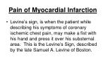 pain of myocardial infarction87
