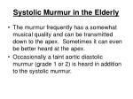 systolic murmur in the elderly117