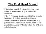 the first heart sound