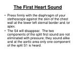 the first heart sound204