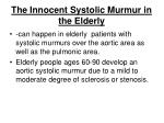 the innocent systolic murmur in the elderly