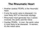 the rheumatic heart