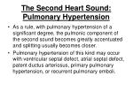 the second heart sound pulmonary hypertension