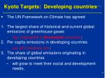 kyoto targets developing countries